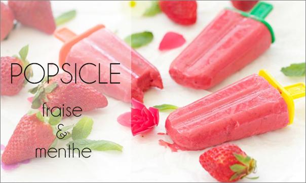 Popsicles fraise-menthe.
