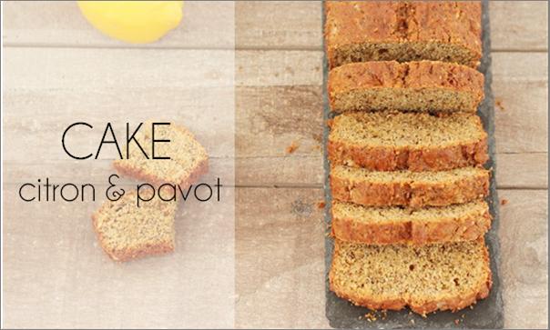 Cake citron & pavot.