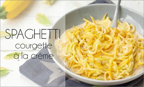 Spaghetti de courgette à la crème.