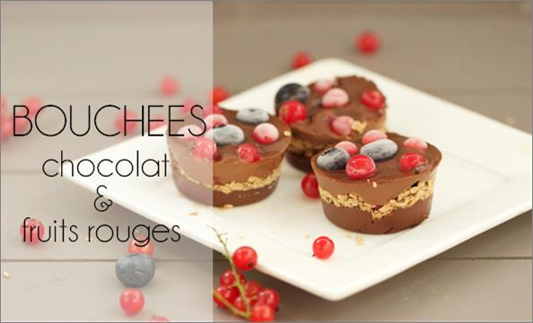 Bouchées chocolat & fruits rouges vegan.