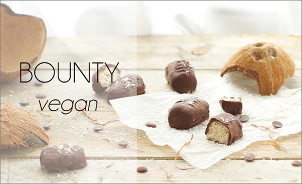 Bounty (sans sucre ni matière grasse ajoutés, vegan).