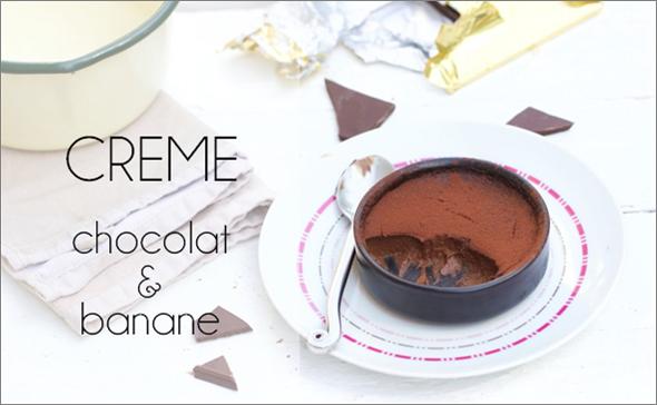 Crème chocolat banane vegan.