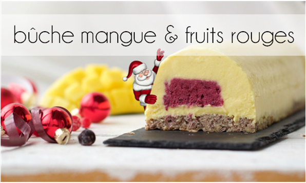 Bûche mangue - fruits rouges.