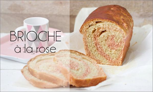 Brioche à la rose (vegan).