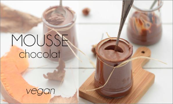 Mousse au chocolat (vegan).