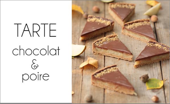 Tarte chocolat & poire (vegan).