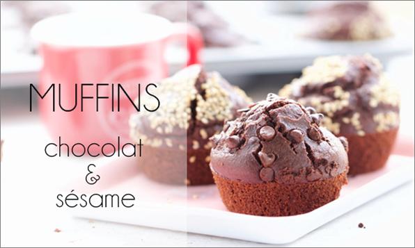 Muffins chocolat & sésame.