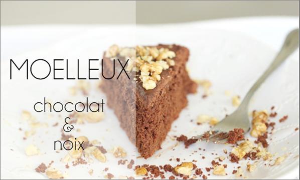 Moelleux chocolat & noix.