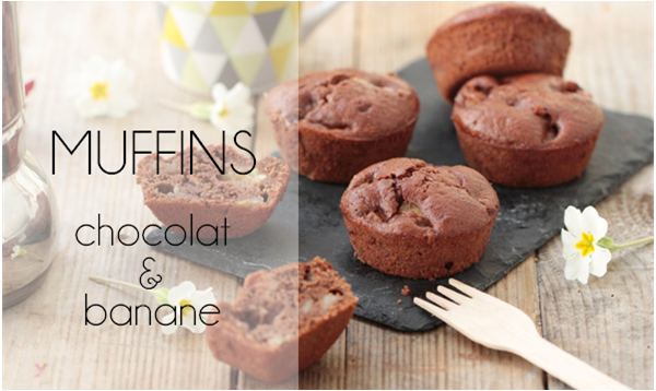 Muffins chocolat & banane.
