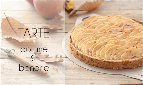 Tarte pomme & banane (vegan).