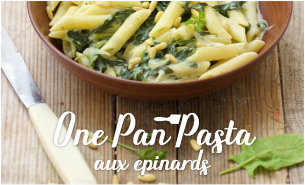 One Pan Pasta aux épinards