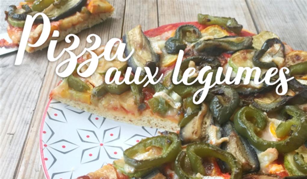 Pizza aux légumes sur une pâte semoule & épeautre.