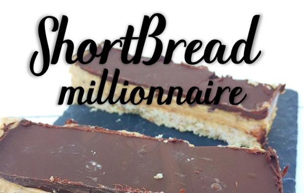 Mes shortbreads millionnaire (vegan).