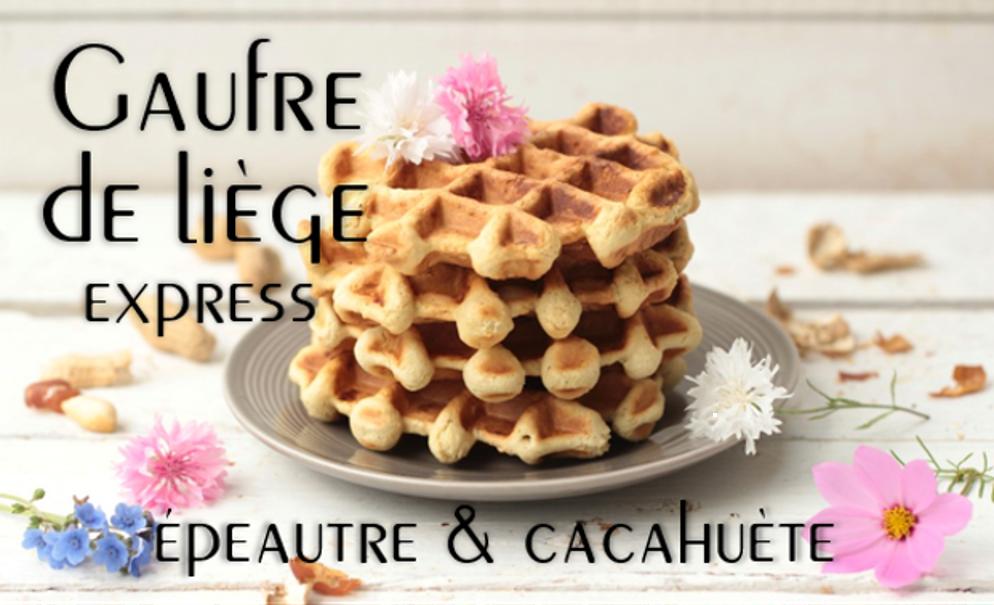 Gaufre de Liège express épeautre & cacahuète.
