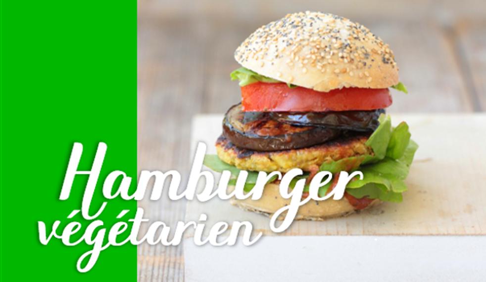 Hamburger végétarien.