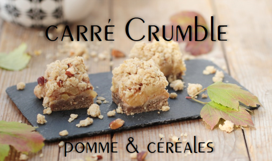 Carré crumble pomme & céréales (vegan)