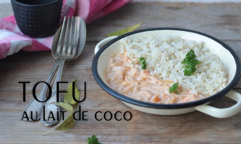 Tofu au lait de coco