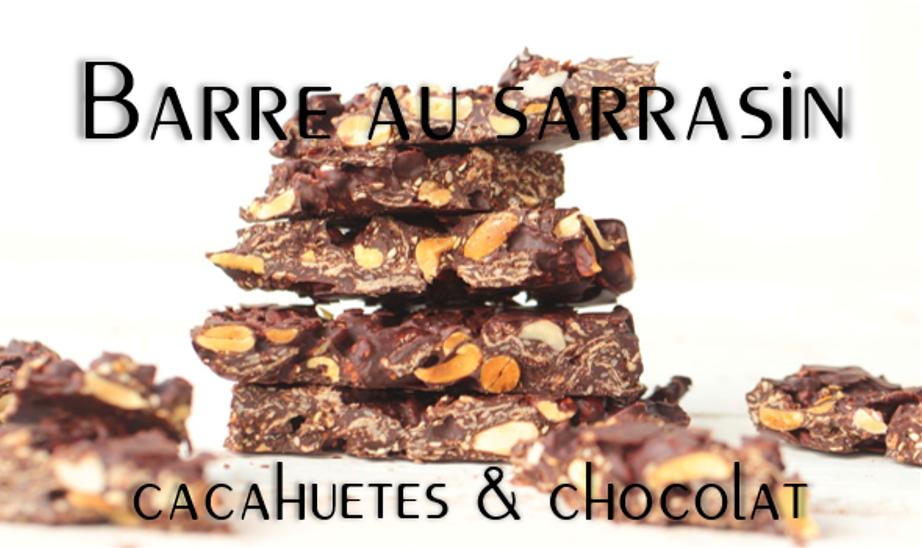 Barres au sarrasin, cacahuète et chocolat.